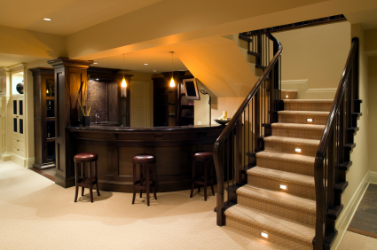 Grand basement in modern house