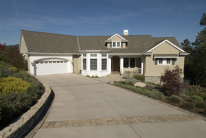 Wide combination surface driveway