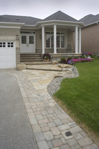 Combination surface driveway