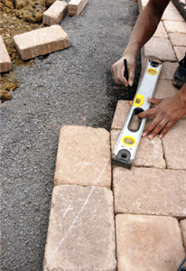 Interlock stone installation