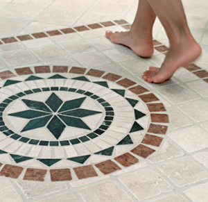 Unique star and circle tile mosaic